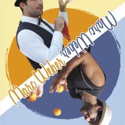 Carte de visite et affiche pour le magicien-jongleur Marc Weber