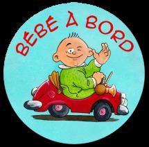 """Sticker voiture """"bébé à bord"""""""