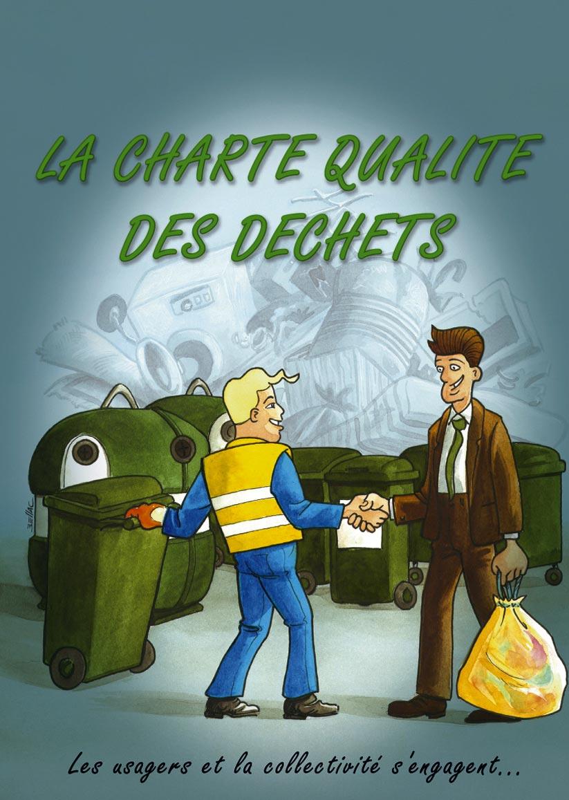 Charte qualité des déchets en Bande Dessinée