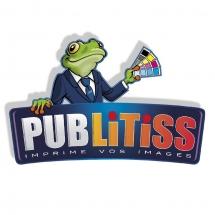 Communication BD: Mascotte grenouille intégrée dans logo