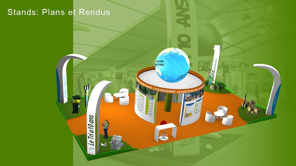 Rendu 3D stand foire - Communauté d'Agglomération