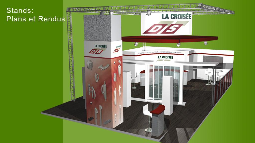 Rendu 3D stand foire - Croisée DS