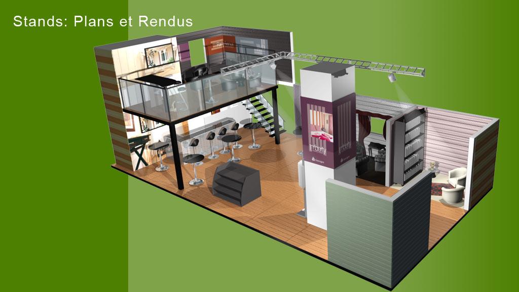 Rendu 3D stand foire - Imberty - face