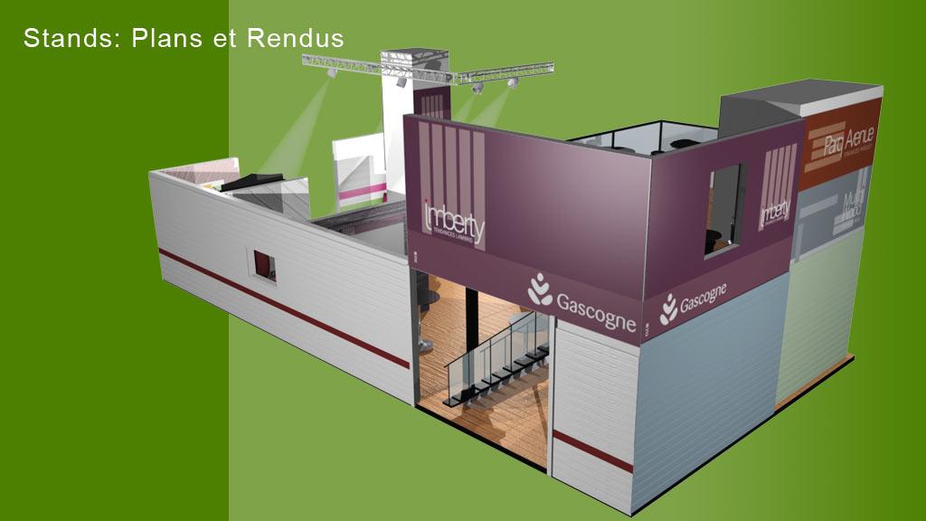 Rendu 3D stand foire - Imberty - dos