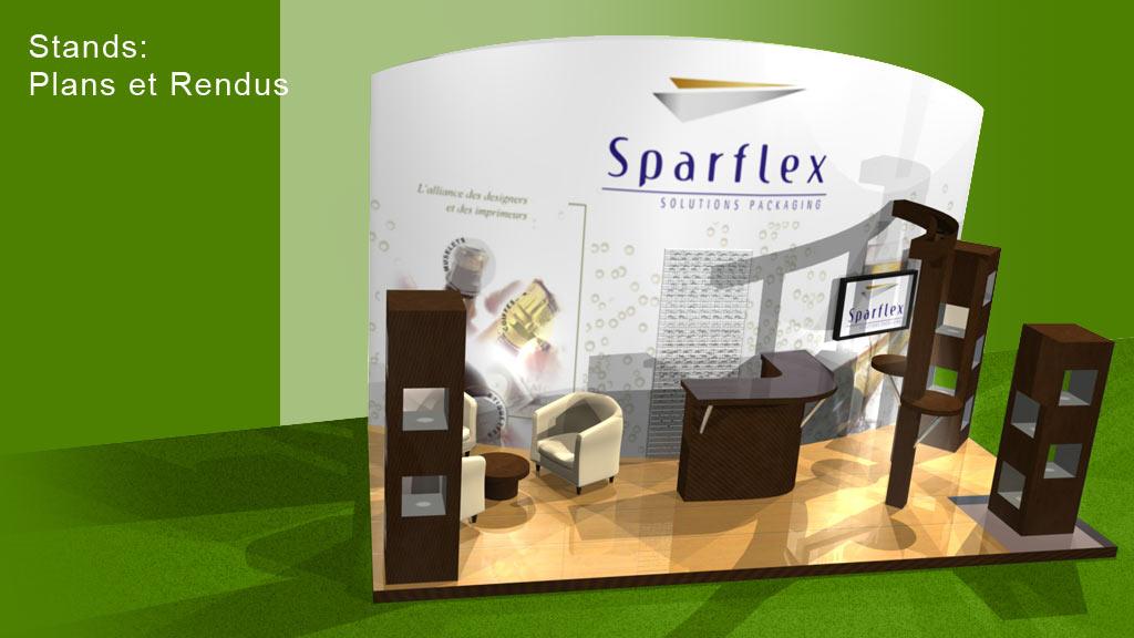 Rendu 3D stand foire - Sparflex