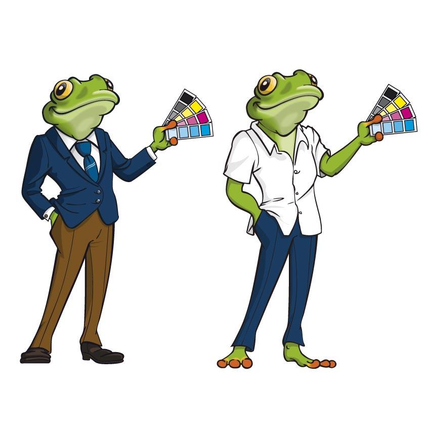 Dessin de mascotte-grenouille