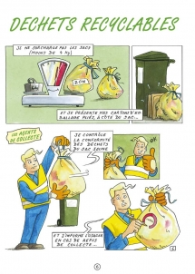 Communication BD: La charte qualité des déchets en Bande Dessinée-p6