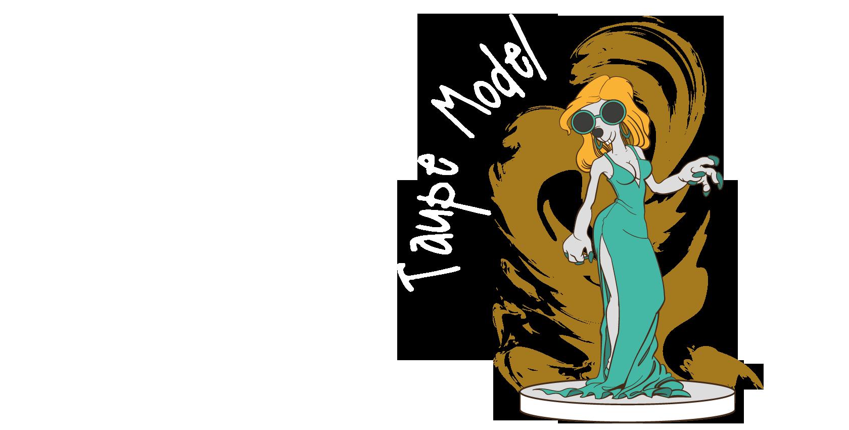 Taupe Model - illustration vectorielle série taupes Crea Com Mix/Bellac
