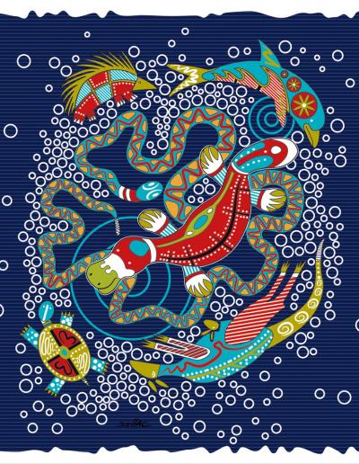 Illustration vectorielle Illustrator - motif aborigene