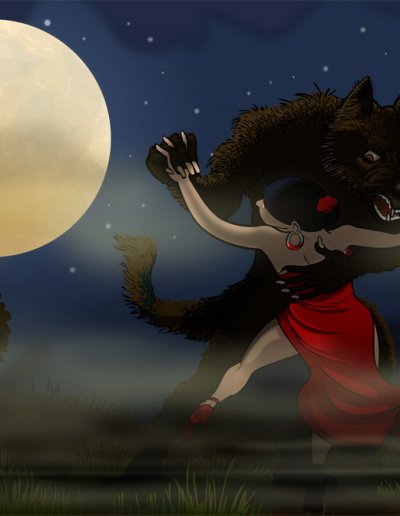 Illustration vectorielle Inkscape - Dancing in the Moonlight