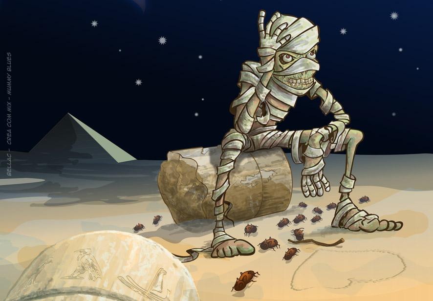 Illustration vectorielle Inkscape - Mummy Blues
