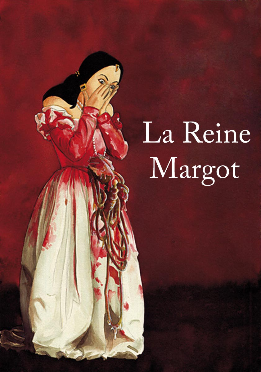 illustration aux encres de couleur - La reine Margot
