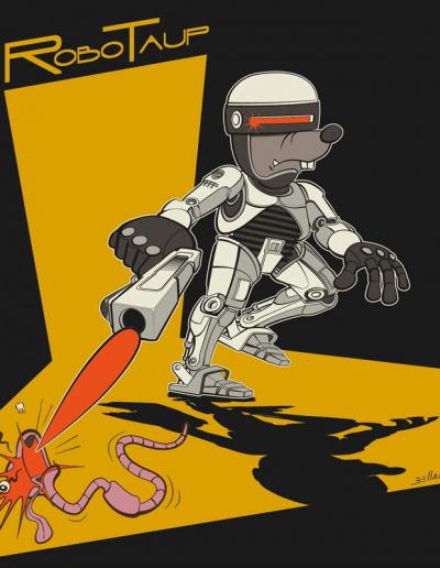 Série humoristique à base de jeux de mots sur les taupes. Robotaup