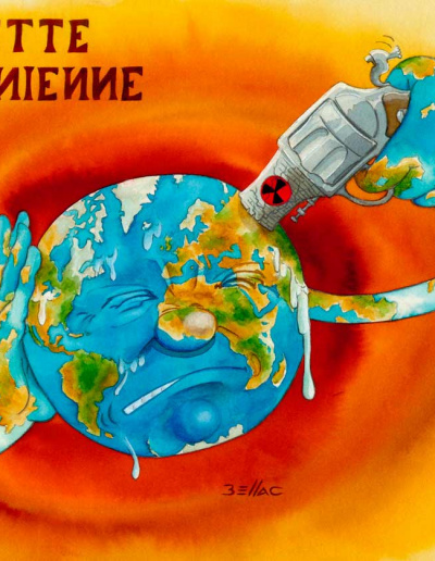 illustration aux encres de couleur - Roulette Ukrainienne