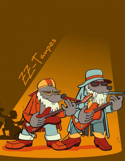 Série humoristique à base de jeux de mots sur les taupes. ZZ Taupes