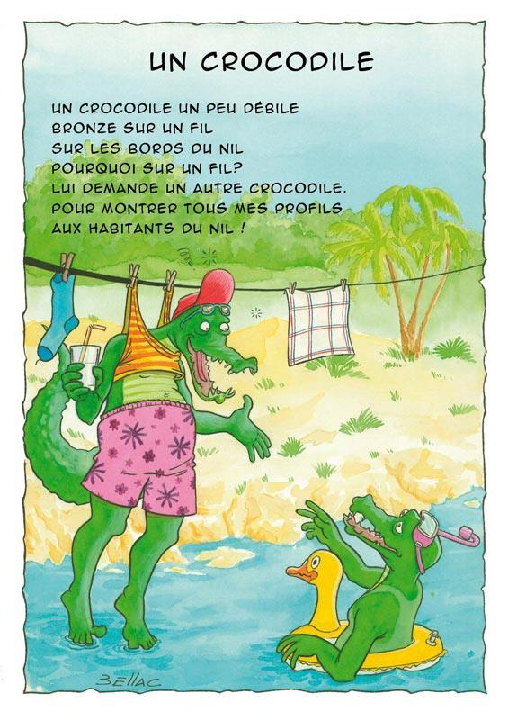 Illustration jeunesse - Un crocodile