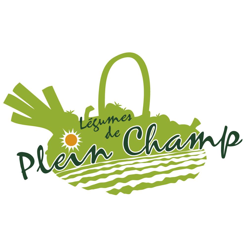 Logo maraîchage légumes naturels de plein champ