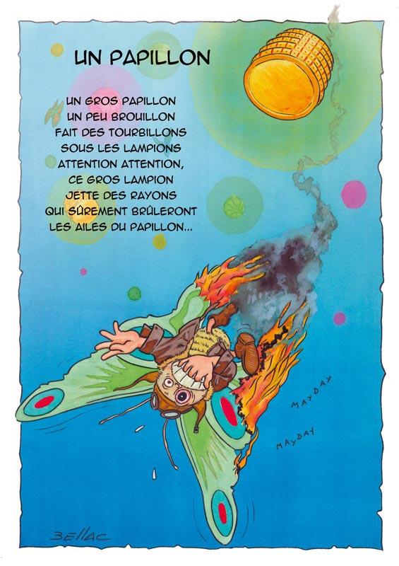 Illustration jeunesse - Un Papillon