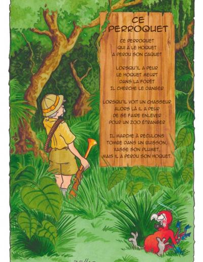 Illustration jeunesse - Ce Perroquet