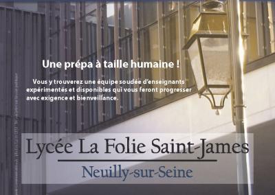 Flyer de propo Prépa La Folie St james