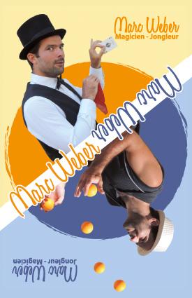 Carte de visite Marc Weber magicien-jongleur